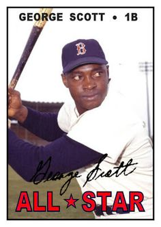 1967 Topps George Scott All Star, Boston Red Sox, Baseball Cards That Never Were