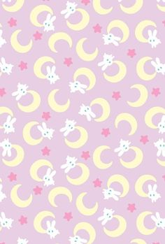 Sailor Moon bunnies and moons (Source: unknown)