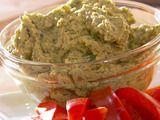 green herb hummus