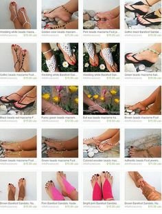 Black Barefoot Sandals with dice bead Nude shoes by ArtofAccessory, $15.00