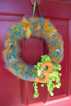 Funny monster wreath #monster #wreath