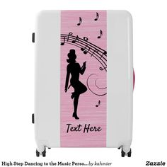 High Step Dancing to the Music Personal Luggage
