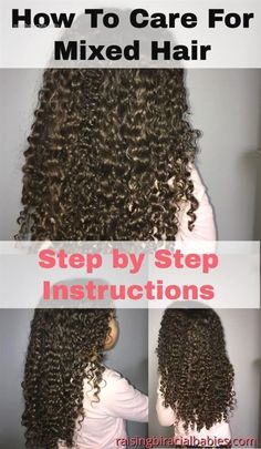 Biracial hair requires specific products and care. Learn what the best products are and how to care for it with this mixed hair care routine. Mixed Curly Hair, Mixed Hair Care, Boys With Curly Hair, Curly Hair Tips, Curly Hair Care, Curly Hair Styles, Natural Hair Styles, Natural Curls, Curly Kids