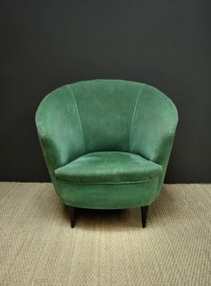 Tub armchair for table end or in front of under stairs storage with floor lamp (cosy nook)