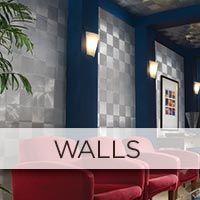 Fasade Wall Tin backsplash dining room
