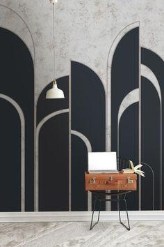 p/art-deco-deco-arches-newmor-wallcoverings-artdecointerior - The world's most private search engine Estilo Interior, Arch Interior, Studio Interior, Home Interior Design, Interior Styling, Interior Decorating, Simple Interior, Interior Sketch, Cafe Interior