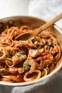 Hearty Spaghetti With Lentils Marinara Sauce Cookie . 50 Things To Make With Pasta Sauce : Recipes And Cooking . Ricotta Filled Handkerchief Pasta With Pesto And Marinara . Home and Family Seafood Marinara Recipe, Pasta Marinara, Seafood Pasta Recipes, Spaghetti Recipes, Seafood Dishes, Pasta Dishes, Fish Recipes, Pasta Food, Spaghetti Marinara Recipe
