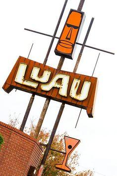 Long lost Luau neon sign