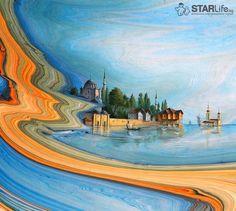 Эбру Гарипа Ай - искусство рисования на воде » STARLife.kg - Молодёжный Информационный Портал Кыргызстана