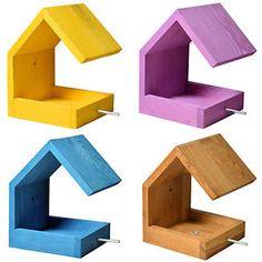 Design Vogelhaus Vogelhäuschen Futterhaus Vögel Vogelfutterhaus Vogelvilla Holz   eBay