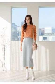 Long Skirt Fashion, Modest Fashion, Fashion Dresses, Summer Work Outfits, Spring Outfits, Modest Outfits, Chic Outfits, Professional Outfits, Asian Fashion