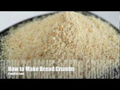 How to make bread crumbs instead of having to go out and buy them!
