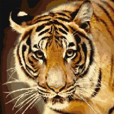 Cross Stitch | Tiger xstitch Chart | Design