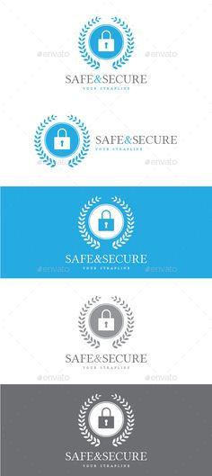 Safe & Secure Logo — Vector EPS #manufacturing #system • Available here → https://graphicriver.net/item/safe-secure-logo/8799431?ref=pxcr