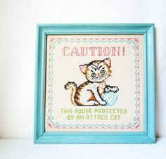 Caution! This house protected by an attack cat - by Trisha Brink