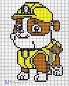 Paw Patrol Pattern - Billedresultat for paw patrol perler beads Knitting Charts, Knitting Patterns, Crochet Patterns, Pearler Bead Patterns, Perler Patterns, Fuse Beads, Perler Beads, Crochet Pixel, Crochet Pony
