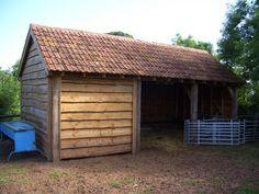 Oak framed log store/ lambing shed