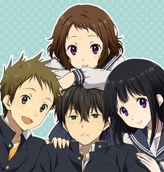 Tags: Anime, Rito, Hyouka, Chitanda Eru, Fukube Satoshi, Ibara Mayaka, Oreki Houtarou