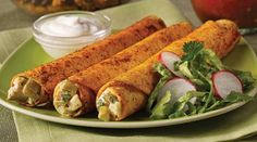 Baked Chipotle Chicken Flautas