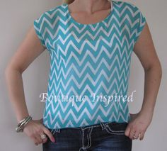 Aqua Sheer Chevron Blouse $36    To Buy go to www.facebook.com/boutiqueinspired