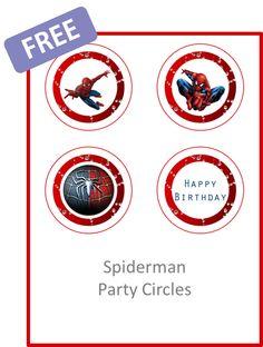 Spiderman Party Circles - FREE PDF Download