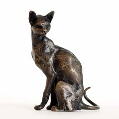 Cats in Art, Illustration, Photography and Design: Sue Maclaurin - Bronze Sculpture Seated Cat