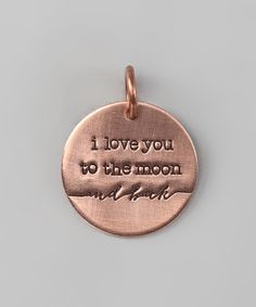 Copper Expressions 'I Love You to the Moon' Charm