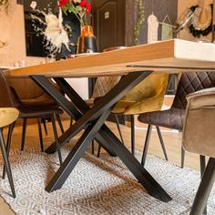 Grande table pour Bureau Insta WoodHome by Florent Dining Table, Furniture, Home Decor, Decoration Home, Room Decor, Dinner Table, Home Furnishings, Dining Room Table, Home Interior Design