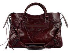 Best Quality Balenciaga Handbags bags from PurseValley Factory. Balenciaga Handbags, Balenciaga City Bag, Balenciaga Designer, Work Bags, My Bags, Designer Handbags, Burgundy, Chanel, Shoulder Bag