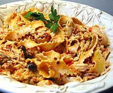 Przepis na Fettucine z kurczakiem i pomidorami - MniamMniam.com Prosciutto, Macaroni And Cheese, Ethnic Recipes, Food, Mac And Cheese, Essen, Meals, Yemek, Eten