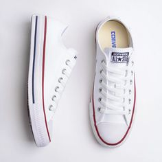 tênis Converse Chuck Taylor All Star New Malden OX branco (com vermelho) Converse Chuck Taylor All Star, Converse All Star, Chuck Taylor Sneakers, All Star Shoes, Sneakers Fashion, Shoes Sneakers, Shoes Heels, Cute Shoes, Me Too Shoes