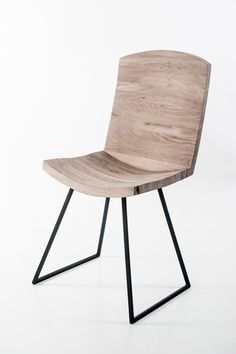 Handcrafted, design Triky chair http://bit.ly/trikychair #wodenchair #chair #solidwood #solidwoodchair #oakwood #oak #design #designchair #interiordesign #steel