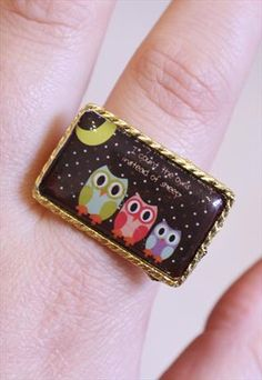 """""""I Count the Owls Instead of Sheep"""" Ring"""