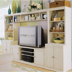 I really like this entertainment center. I feel you could put a but of little pieces of furniture together to make this