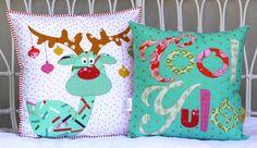 Cool Yule christmas cushion set. PDF pattern par claireturpindesign