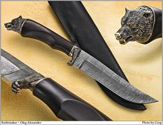 Photos - SharpByCoop's Gallery of Handmade Knives Swords And Daggers, Knives And Swords, Rifles, Dagger Knife, Damascus Knife, Cool Knives, Handmade Knives, Metal Artwork, Cold Steel