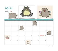 Gratis calendario Sonrisas de gato Abril 2016