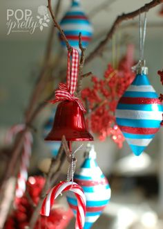 Red and Aqua Cheerful Christmas Table {Canadian Tire}