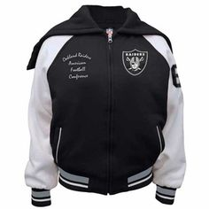 Oakland Raiders Womens Varsity Jacket - Click to enlarge