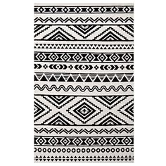 Freedman Geometric Moroccan Tribal Black/White Area Rug ($234) ❤ liked on Polyvore featuring home, rugs, woven rug, geometric area rugs, geometric pattern area rugs, moroccan pattern rug and low pile rug