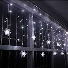 Amazon.com : LIANGSM 3.5M 96 LED Fairy Lights Curtain Icicle Starry String Lights for Bedroom Christmas New Year Home Garden Wedding (snowflake white) : Patio, Lawn & Garden