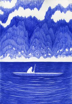 Très jolie petite série bleu illustré de l'artiste français Kevin Lucbert, celle-ci s'appelle Blue Lines.Il a étéDiplômé en 2008 àl'Ecole Nationale Supérieure des Arts Décoratifs de Paris, il vit et travaille aujourd'hui entre Berlin et Paris. Beaucoup de paysage et d'étendue. Tweet