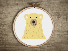 adorable yellow honey brown bear cross stitch pattern  by futska