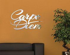 Epic Spiegel Design Schriftzug Carpe Diem