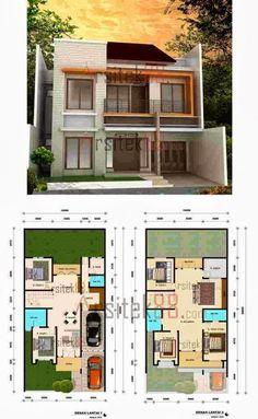 Denah Rumah Minimalis 2 Lantai 8x12 Proyek Untuk Dicoba In 2019