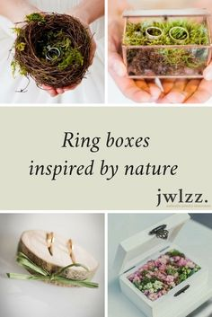 ring boxes nature custom wedding rings