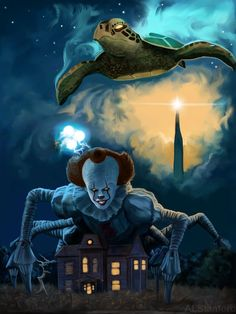 Clown Horror Movie, It The Clown Movie, Horror Movies, Z Movie, It Movie 2017 Cast, Anime Sexy, Pennywise Painting, Dark Tower Art, Batman Concept