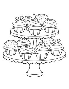 48 Cupcakes Coloring Pages Ideas Cupcake Coloring Pages Coloring Pages Coloring Pictures