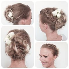 I did this hair on a bride today