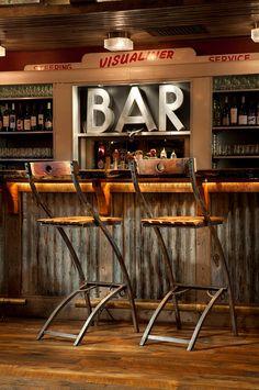 Awesome Rustic Bar Design Ideas - Build Home Caffe Bar, Bar Deco, Home Bar Furniture, Restaurant Furniture, Furniture Ideas, Furniture Design, Furniture Vintage, Ikea Furniture, Furniture Online